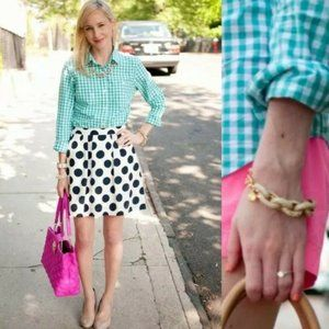 J Crew Top The Perfect Shirt Gingham Button
